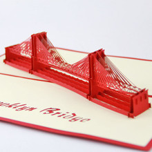 3D Bridge Greeting Pop UP Cards Handmade Kirigami Wedding Invitations Post Card Birthday Gift Paper Craft