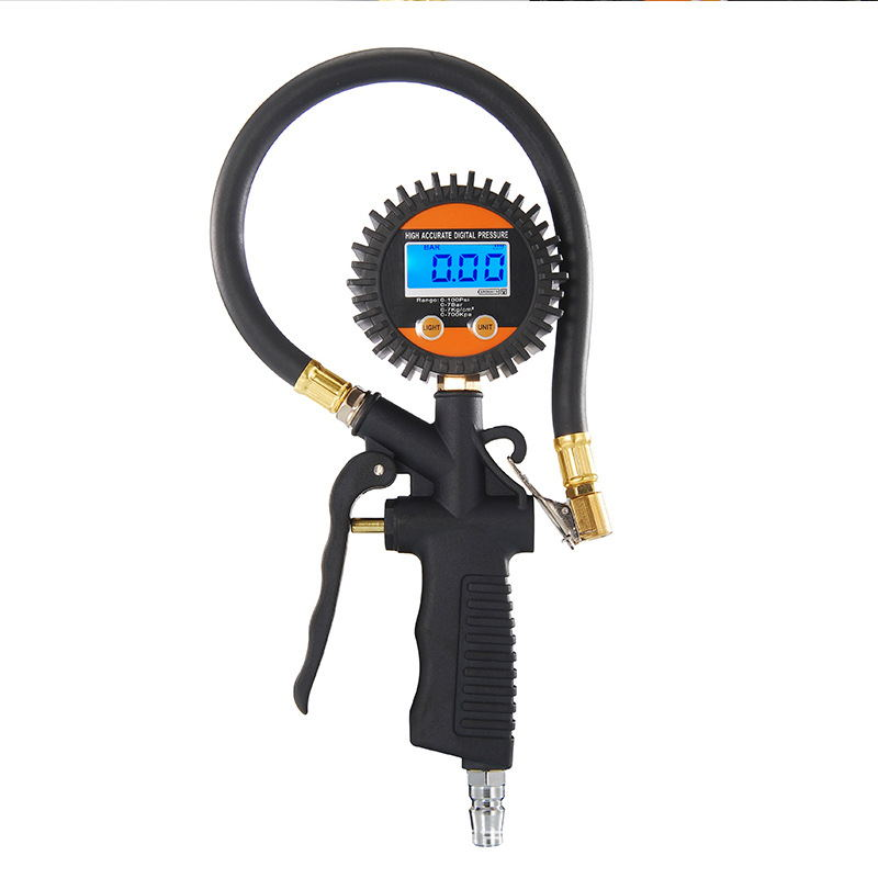 Car Truck Motorcycle Vehicle Diagnostic Tool Tire Air inflators Meter Digital Tire Inflator Pressure Tyre Gauge Inflation Gun lematec pro heavy digital tyre pressure inflator with digital pressure gauge for auto truck car motorcycle tire inflating gun