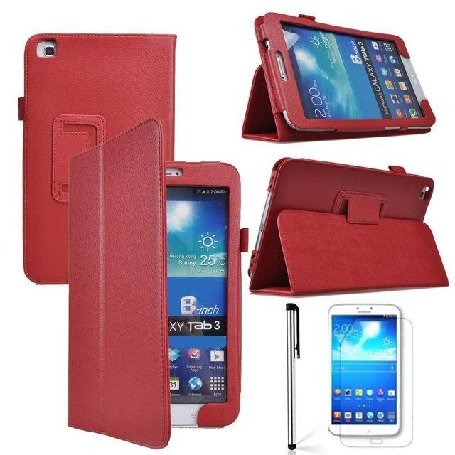 Из искусственной кожи чехол для планшета для samsung Tab 3 8,0 T310 T311 T315 SM-T310 SM-T311 чехол для планшета с подставкой электронная книга Защитный чехол + подставка для ручек