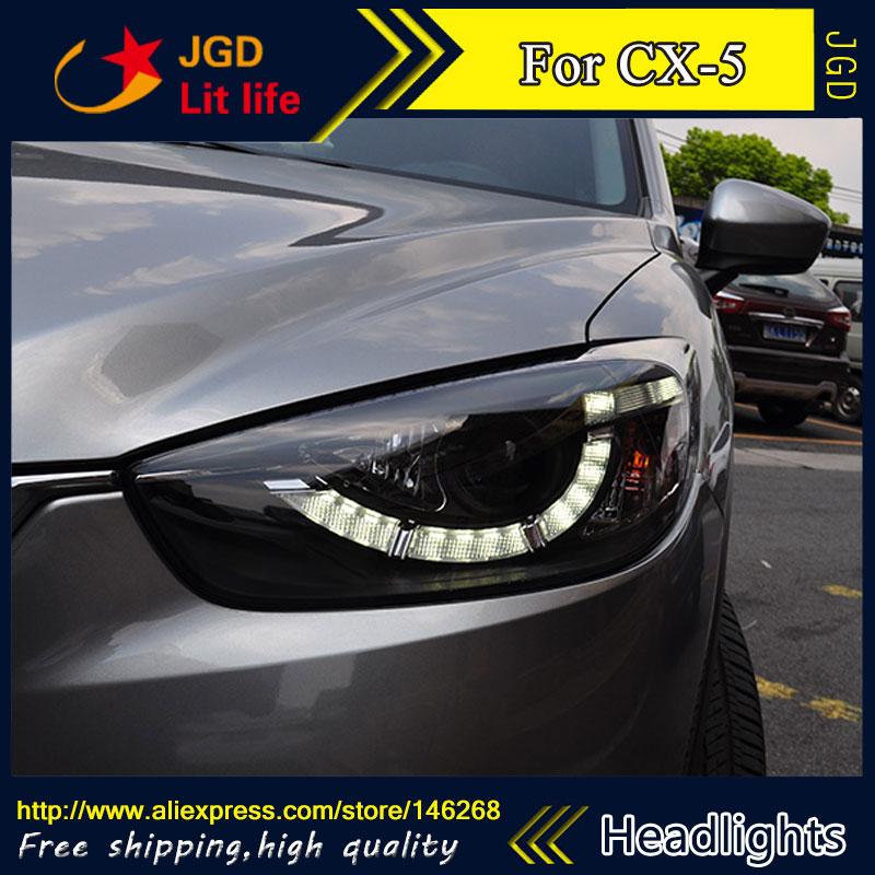 Бесплатная доставка ! Стайлинга автомобилей СИД спрятал Рио СИД головной корпус фары лампы для Mazda СХ-5 би-ксенон ближний линза луч
