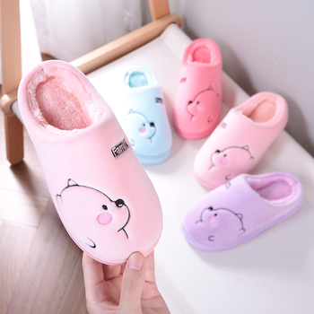 Cartoon Bear Winter Women Slippers Fashion Animal Home Fur Slippers Slip On Warm House Shoes Men Women Lovers Indoor Shoes 2