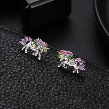 Unique Charming Crystal Unicorn Earrings