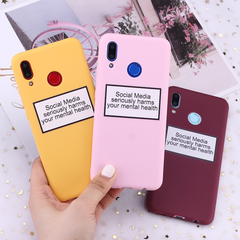 For Samsung S8 S9 S10 S10e Plus lite Note 8 9 10 A7 A8 Social Media Harms Memes Silicone Phone Case Cover Capa Fundas Coque image