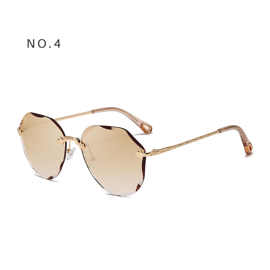 AEVOGUE Sunglasses For Women ladies Rimless Diamond cutting Lens Brand Designer Ocean Shades Vintage Sun Glasses AE0637 10
