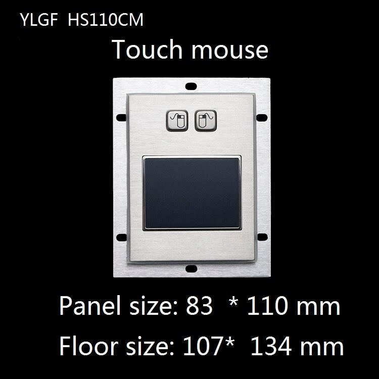 Souris tactile Ylgf Interface Usb intégrée souris industrielle étanche Ip65 poussière Anti Violence anneau en acier inoxydable
