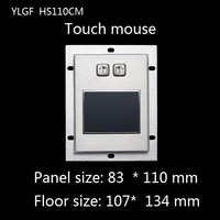 Touch Mouse Ylgf Usb Interface Embedded Industrial Mouse Waterproof Ip65 Dust Anti Violence Stainless Steel Ring Stainless Steel