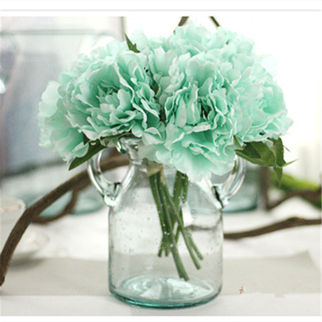Artificial flowers peony chinese silk fake flower floral garden blue artificial flowers peony chinese silk fake flower floral garden blue peony bouquet wedding bridal bouquets home mightylinksfo