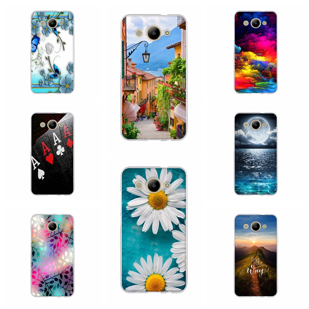 <font><b>Silicone</b></font> Bag For <font><b>Huawei</b></font> Y3 2017 Phone Case For <font><b>Huawei</b></font> <font><b>Y5</b></font> lite 2017 Back Cover Stylish Pattern For Y3 2017 CRO-L22 Fundas Bumper image