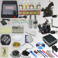 OPHIR Pro Whole Set Tattoo Kit Including 2 Machine Tattoo Guns  12x10ml Ink Pigments Tattoo Nozzles Needles Grip Set  _TA075