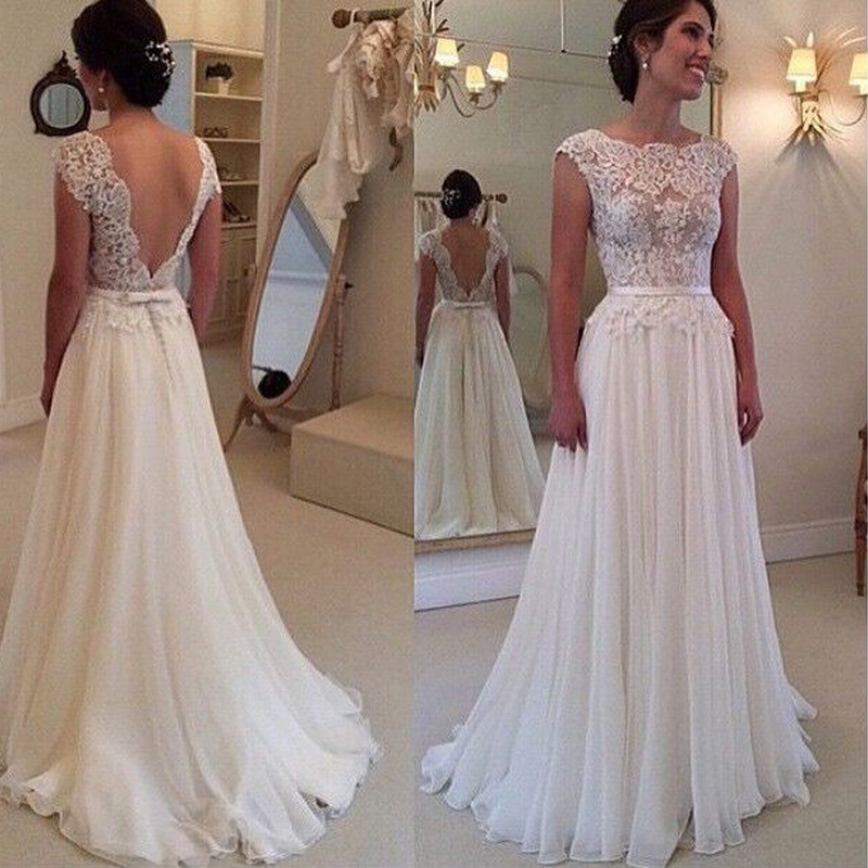 Online Get Cheap Backless Lace Stunning Wedding Dress -Aliexpress ...