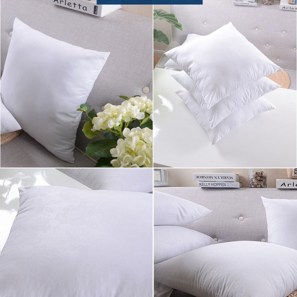 1Piece White Cushion Insert Soft Car Sofa Chair Throw Pillow Core Inner Seat Cushion Filling 35-70cm Embossed Cloth Washable