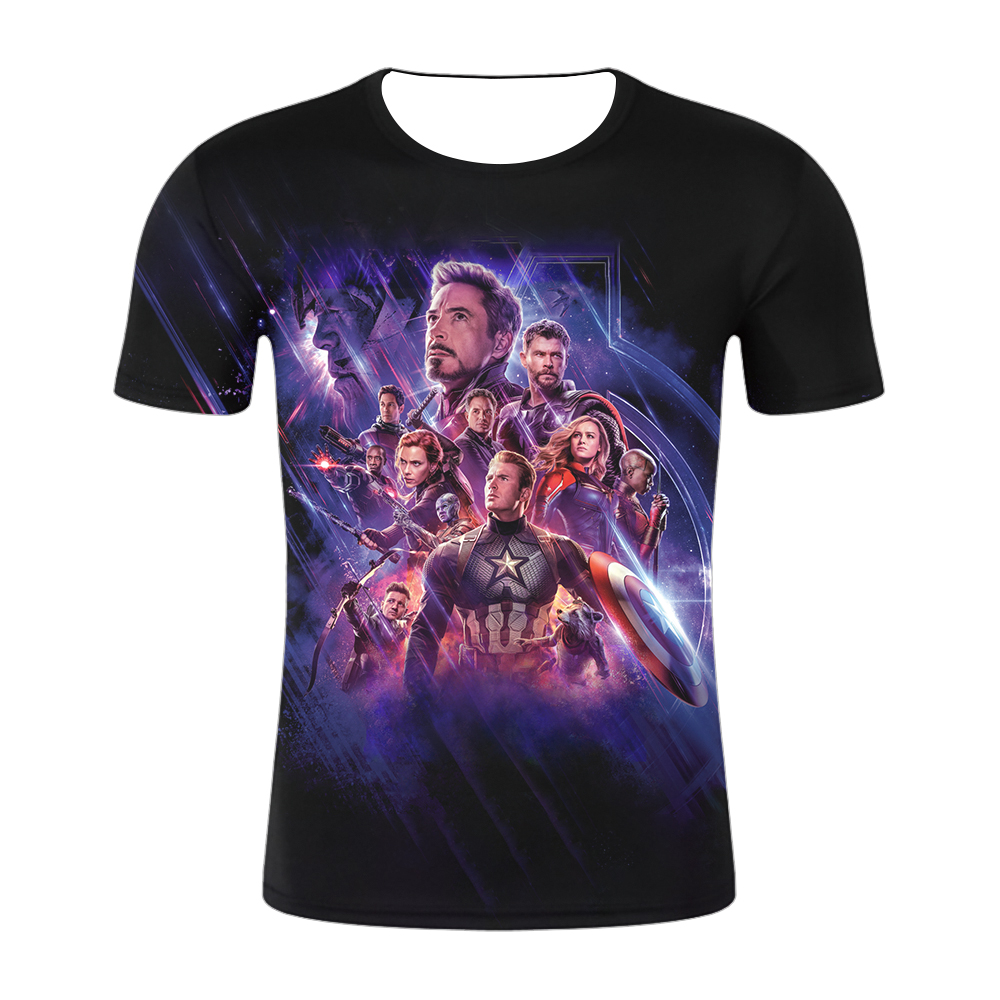 2019 New design   t     shirt   men/women marvel Avengers Endgame 3D print   t  -  shirts   MAN Short sleeve Harajuku style tshirt tops US SIZE