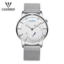 2018 CADISEN New Watch Men Fashion Sports Quartz Clock Mens Watches Top Brand Luxury Mesh Strap Business Waterproof Wrist