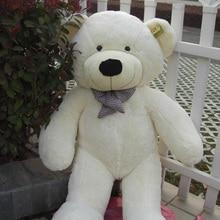 Прекрасный плюшевый мишка игрушка большие глаза лук медведь игрушка чучела белый плюшевый медведь подарок 100 см 0059