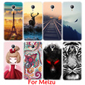 Cartoon Painting Soft TPU Phone Case for Meizu M3 S Mini M2 Note M3E Pro 6 5 MX6 MX5 U20 U10 Scenery Animal Pattern Fundas Shell