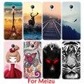 Pintura dos desenhos animados suave tpu phone case para meizu m3 s mini m2 nota MX5 M3E Pro 6 5 MX6 U10 U20 Cenário Padrão Animal Fundas Shell