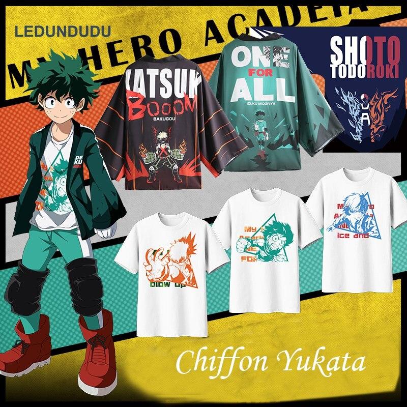 Us 17 63 16 Off Anime My Hero Academia Cosplay Chiffon Coat Boku No Hero Academia Midoriya Izuku Bathrobes Pajamas Cloaks Unisex Yukata Costumes In