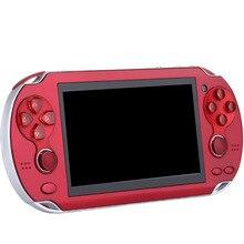 KaRue Mini Jogo de Vídeo Máquina de Jogo Duplo Joystick Do Console para Playstation PSP 4.3 Tela Polegada 8g de Memória Da Câmera de Vídeo MP4