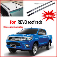 Cross Bar Roof Rack Beam Running Board Footplate Pedal For Toyota REVO Thick Aluminum Alloy OEM