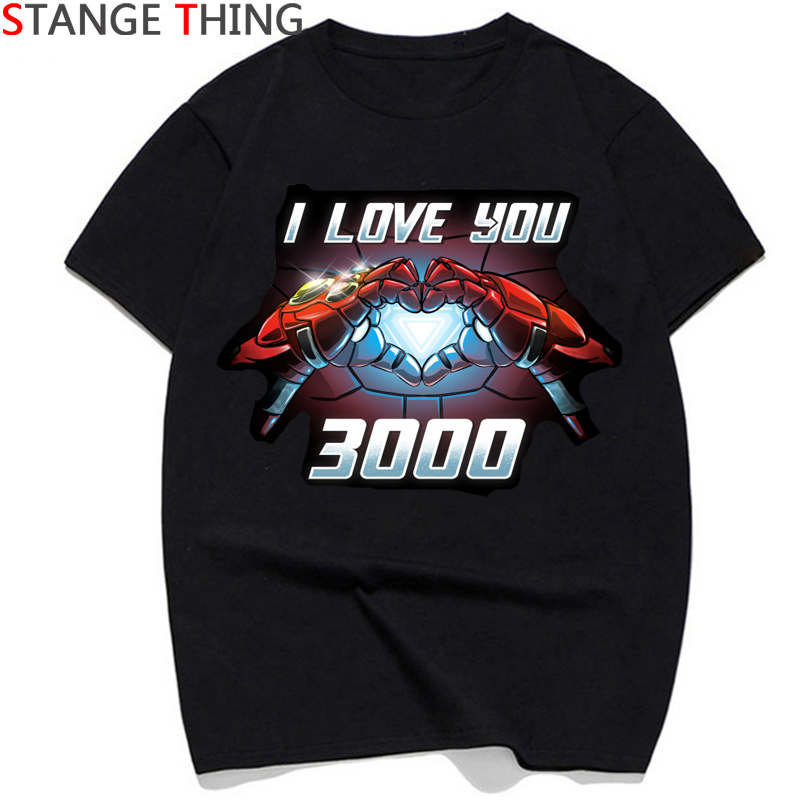 I Love You 3000 Thanks Tony Iron Man T Shirts Men/women Tony Stark Superhero T-shirt Fashion Tshirt Couple Top Tees Male/female