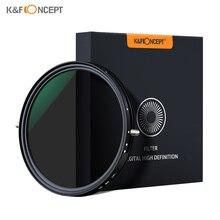 K& F CONCEPT 72 мм 67 мм 2-в-1 переменный Регулируемый Фильтр ND фильтр нейтральной плотности фейдер для Canon sony Nikon Камера объектив