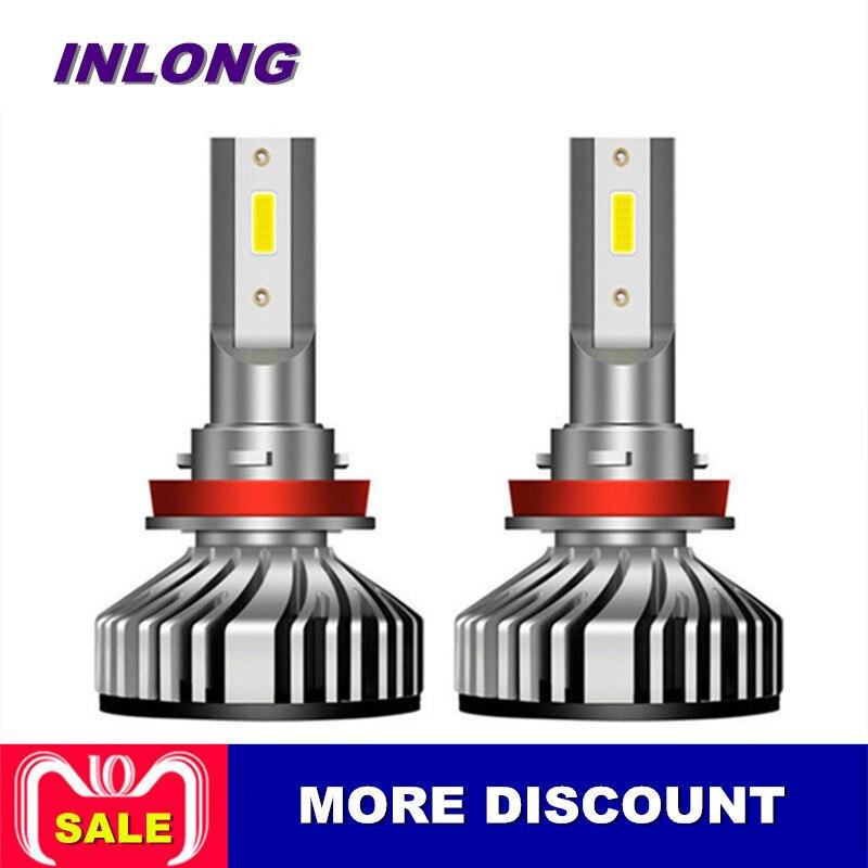 Inlong 2 pièces Mini H1 H11 H8 HB4 H7 led H4 Voiture ampoules de phares led 50 W 10000LM 6000 K Phare Brouillard ampoule 12 V Auto Accessoires