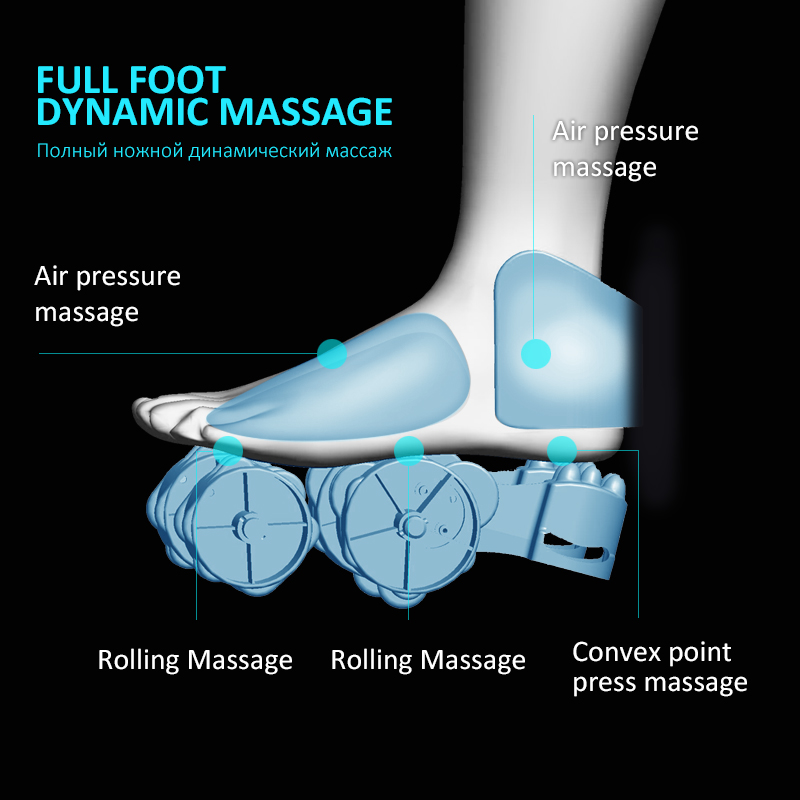 Image 4 - Electric Foot Massager Calf Leg Air Compression massage Machine Shiatsu Kneading Rolling Massage Feet with Heating-in Massage & Relaxation from Beauty & Health