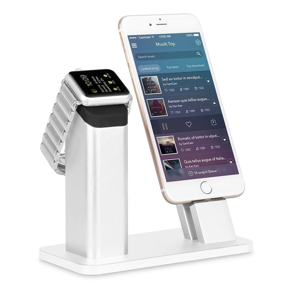 The new listing of the exclusive sales of Apple mobile phone support all metal Iwatch aluminum alloy watch charging base full metal new listing 1600mw mini diy