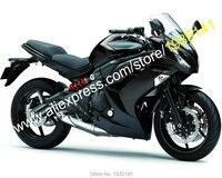 Лидер продаж, для Kawasaki Ninja ER 6F 2012 2013 2014 2015 детали антиблокировочной тормозной системы ER6F 650R полный черный мотоциклетный обтекатель abs (литья п