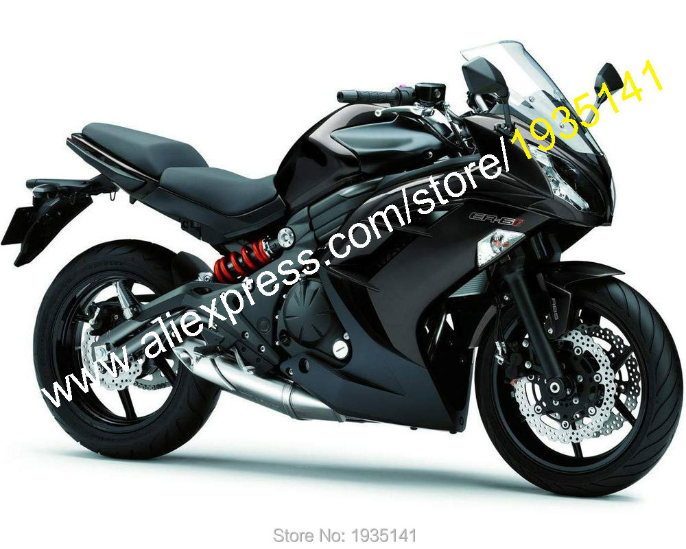 Hot Sales,For Kawasaki Ninja ER-6F 2012 2013 2014 2015 ABS Parts ER6F 12-15 ER 6F 650R Full Black Aftermarket Motorcycle Fairing