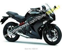Hot Sales,For Kawasaki Ninja ER-6F 2012 2013 2014 2015 ABS Parts ER6F 650R Full Black ABS Motorcycle Fairing (Injection molding)