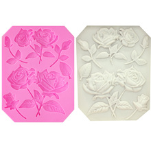 Silicone Molds Cookie-Cutter Flower-Form Wedding-Cake-Decorating-Tools M1017 Tree Rose