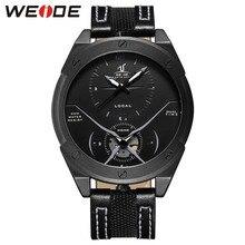 купить WEIDE Mens Watches Top Brand Luxury Alarm Clock Electronic Automatic men's belt Waterproof watch Steampunk Quartz Sports watches по цене 1460.24 рублей