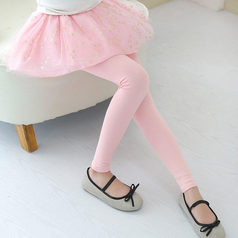 Sequined Stars Girls Legging Skirt-pants Tutu Mesh Golden Star Big Girl Elastic Leggings Children Culottes For 3-12 Years Kids 3