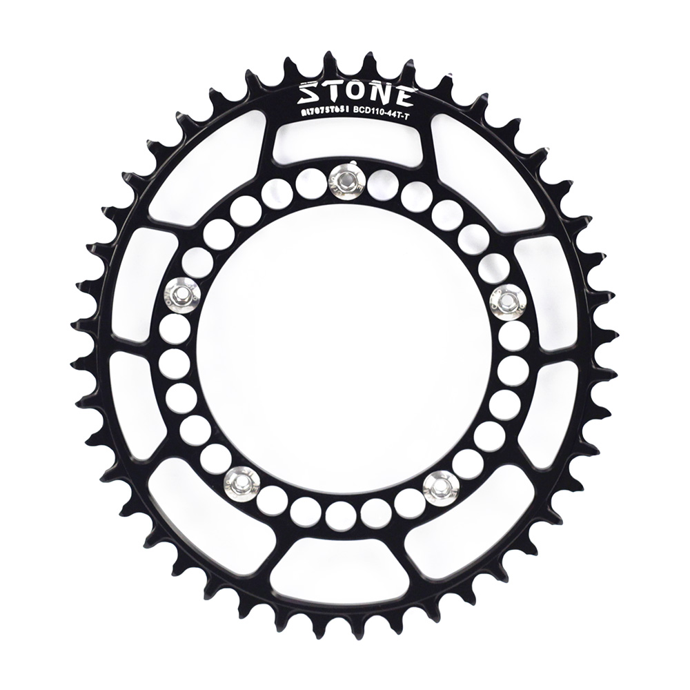 Stone Road Bike CX Cyclocross Oval Chainring BCD 110mm BCD110 5 Bolts For FSA Rotor Chainwheel