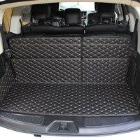 lsrtw2017 fiber leather car trunk mat for nissan patrol 2010 2011 2012 2013 2014 2015 2016 2017 2018 2019 Armada Y62