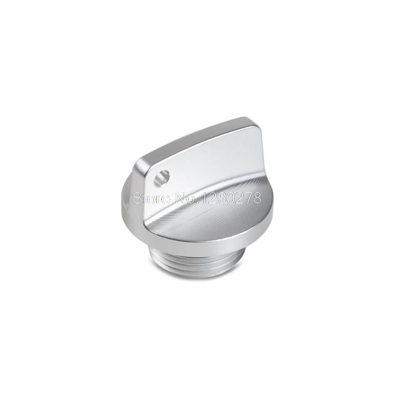 все цены на  Silver CNC Oil Filler Cap Plug For Suzuki SFV650 DL650/1000 TL1000R/S Boulevard Motorbike Frames Decor  онлайн
