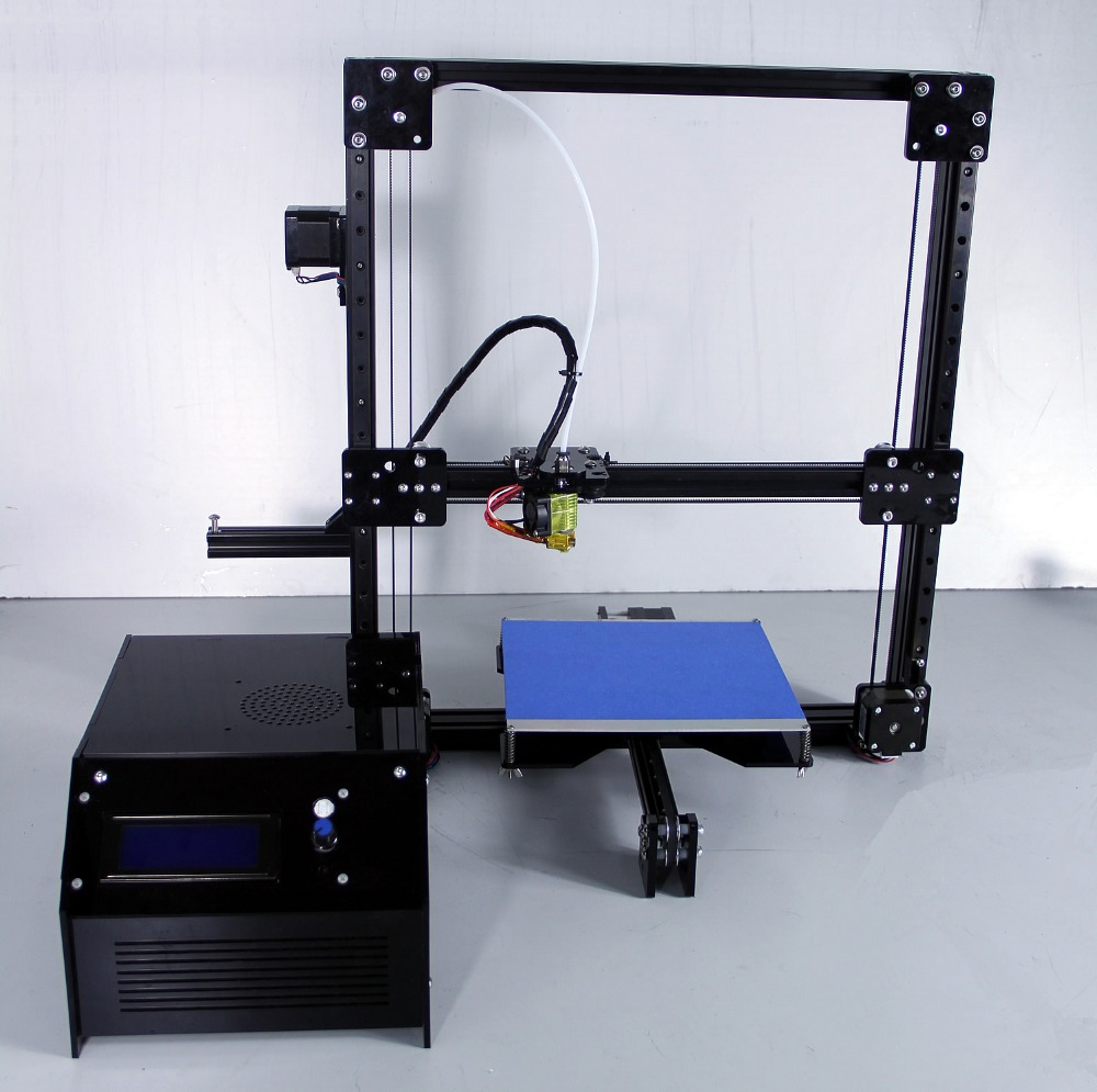 2017 200 200 BLACK 3D printer kit with heated bed and 50G filament DXCOREXZ Printer 3D