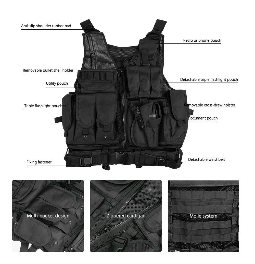 tactical plate carrier vest