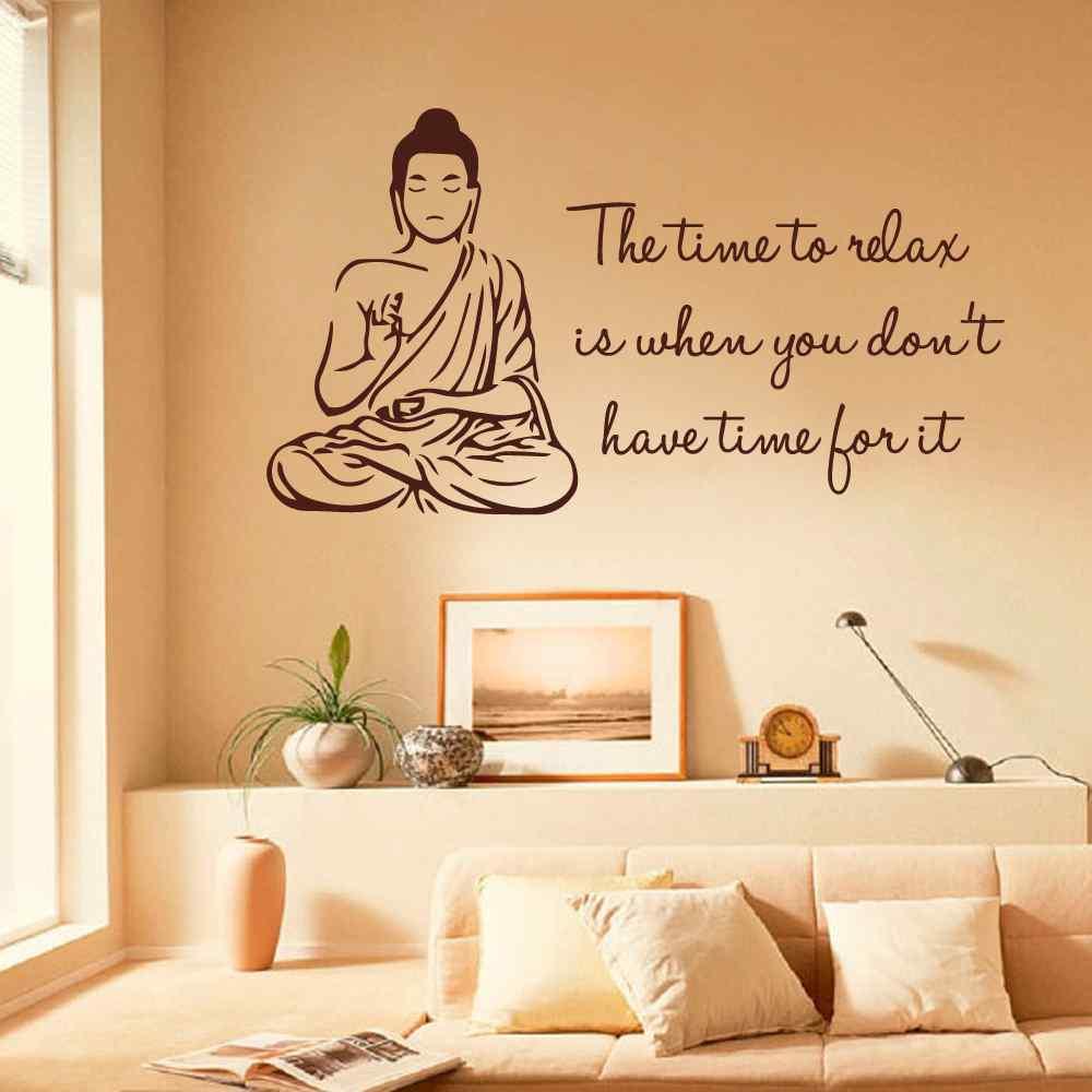 High Quality Walll Art Inspiring Sentence Buddha Wall Sticker Living ...
