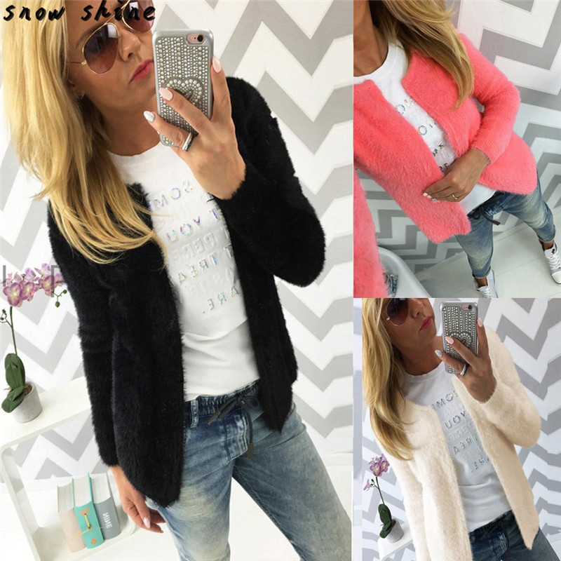 snowshine YLI Women Fashion Warm Solid Slim Jacket Coat Cardigan free shipping