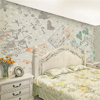Custom Print DIY Fabric Textile Wallcoverings For Walls Cloth Seamless Wallpaper Matt Silk For Kids Child