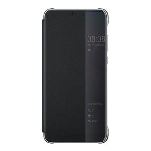 Image 5 - オリジナルhuawei社smart viewのカバー革保護カバー電話ケースP20 P20プロフリップケースハウジングスリープ機能ケース