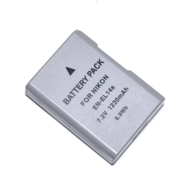 CONENSET 1pcs Li-ion Battery +1 Charger For Nikon EN-EL14 EN-EL14A  Df D5300 D3300 D5300 D5500 Coolpix P7000 P7100 P7700 P7800