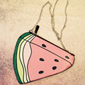 Korean Style Funny Banana Chain Bag Watermelon Messenger Bag Girl Fruit Shoulder Bag Ladies Key Case Clutch Wallets for Phone