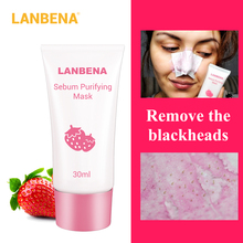 LANBENA Strawberry Blackhead Remover Nose Mask Mud Pore Strip Black Peel off Acne Treatment Skin Care 2pcs