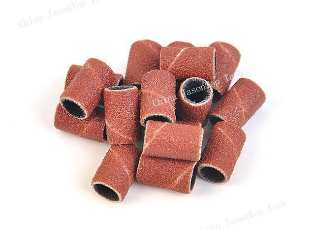 100pcs Sanding Bands Nail Power Drill Accessories Electric Drill Bits Sandcloth Refillable Sanding Sleeves Replacement 6.35 12.7