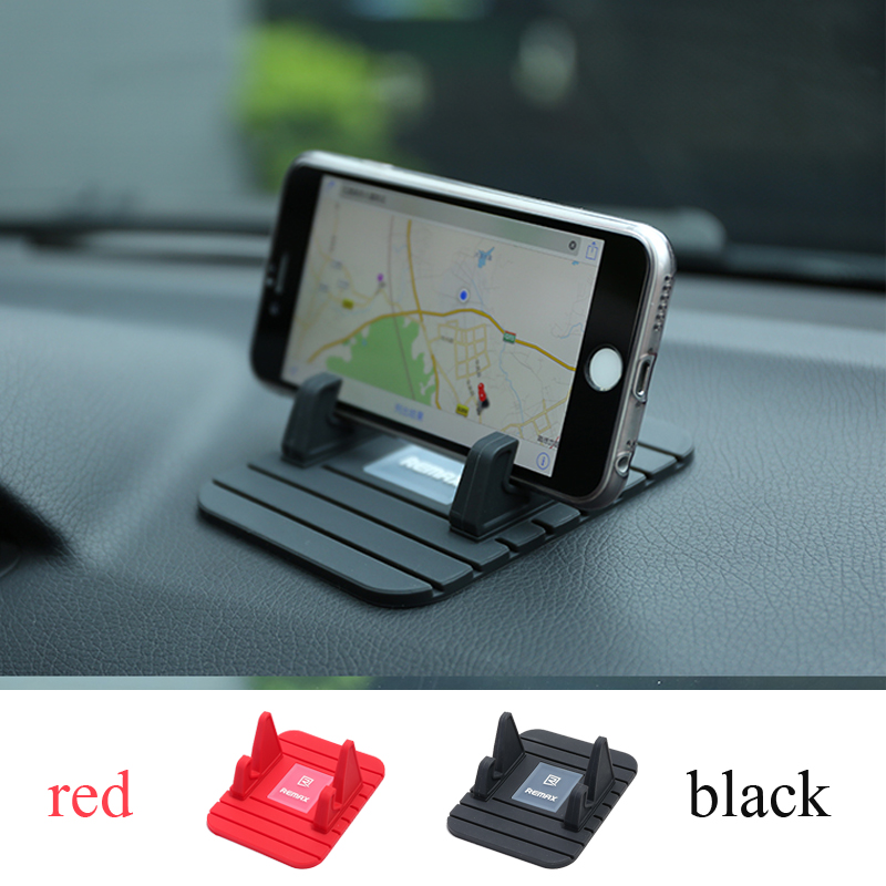 Remax Car Phone Holder Soft Silicone Anti Slip Mat Mobile Phone mount stands Bracket support GPS for iPhone samsung Phone Holder Тостер