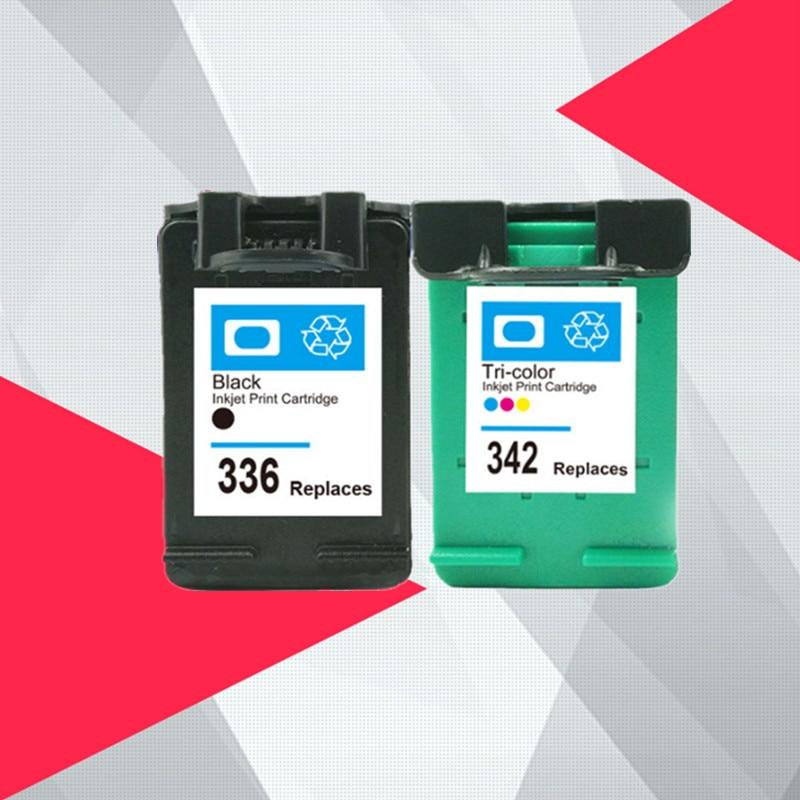 Cartucho de tinta Compatible para hp 336 342 para hp 336 para hp 342 para hp Deskjet serie 5440 de 5420 PSC 1500, 1510 de 2575 C3180 C4180 impresora 2570