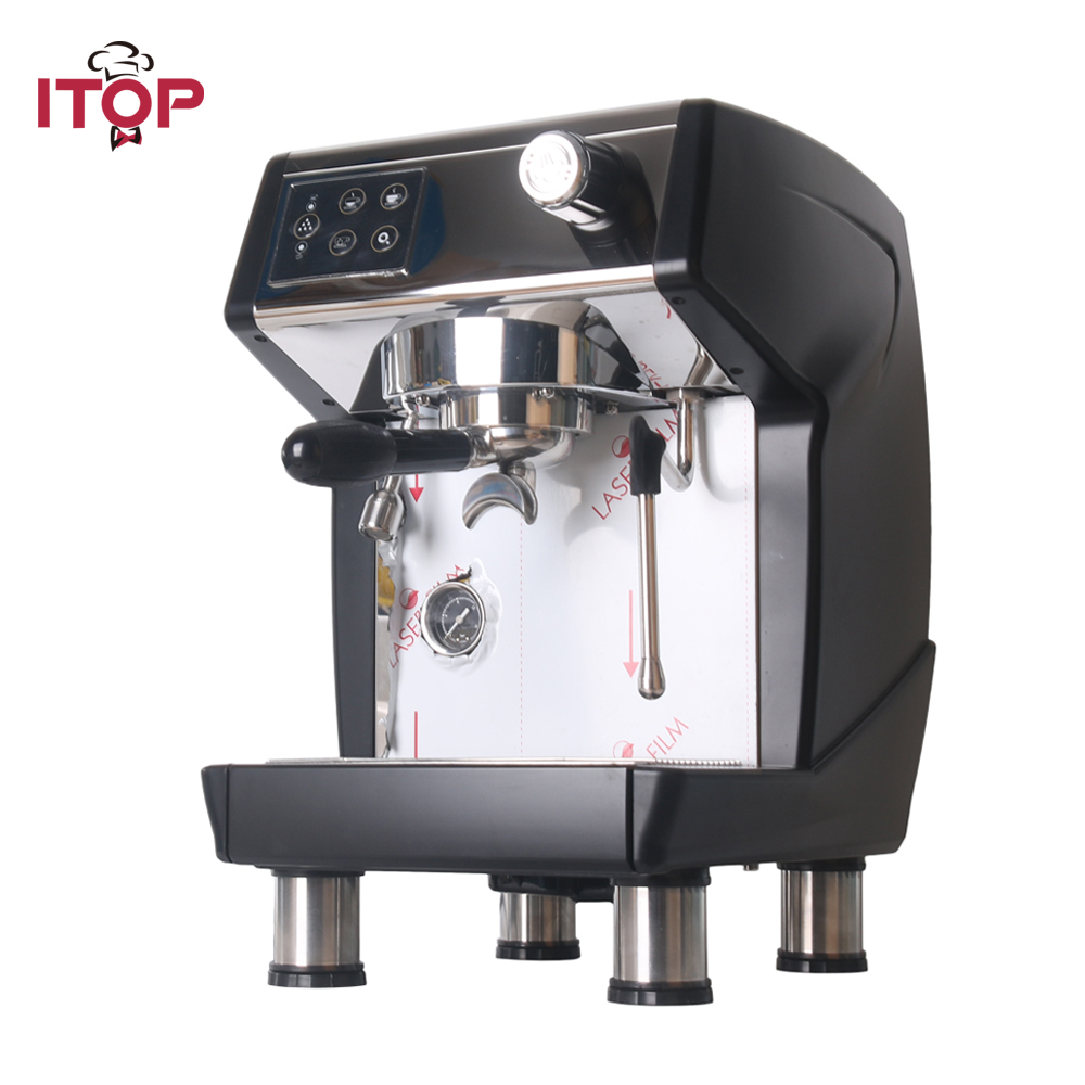 ITOP 1.7L Espresso Electric Coffee Machine Commercial 20Bar Milk Foam Coffee Maker Automatic Cappuccino Americano Coffee Machine